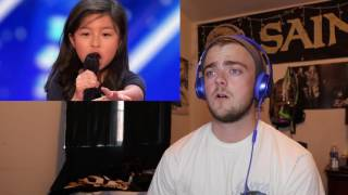 "Celine Tam  9 Year Old Stuns Crowd with ""My Heart Will Go On""   America's Got Talent 2017"