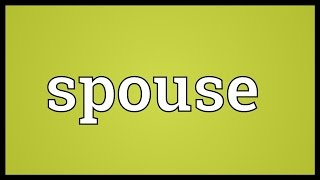 Spouse Meaning