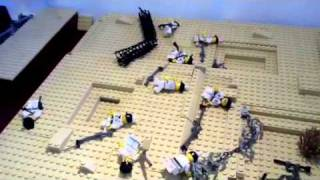 Lego ww1 trench- taking the german lines - hmong video