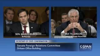 Sen. Marco Rubio questions Rex Tillerson (C-SPAN) | Kholo.pk