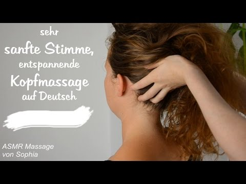 ASMR Kopfmassage ♥ mit Kopfmassagegerät (ganz sanfte Stimme, Binaural, Deutsch)