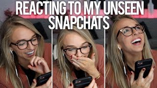 REACTING TO MY SAVED UNSEEN SNAPCHATS - Video Youtube