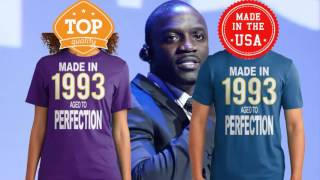 Akon - So Blue - Teespring Cover . Made In 1993 Aged To Perfection