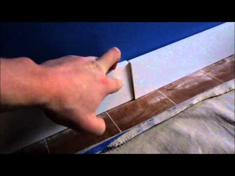 HOW TO EASILY INSTALL BASEBOARDS AND DAP THEM