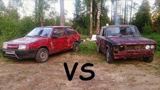 ВАЗ 2108 vs ВАЗ 2106  Догонялки