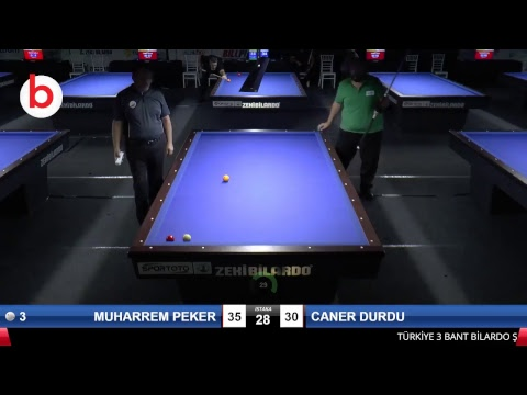 MUHARREM PEKER & CANER DURDU Bilardo Maçı - 2018 ERKEKLER 3.ETAP-5.TUR