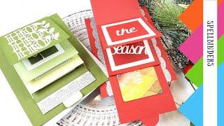 Spellbinders | Christmas Cascade Collection by Becca Feeken | Easy DIY Interactive Card
