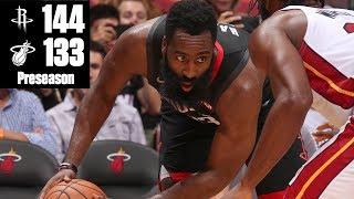 James Harden's 44 points lead Rockets to win vs. Heat | 2019 NBA Highlights
