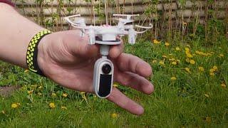 Квадрик JJRC H8 mini с камерой Insta360 Go. Поднимет ли квадрокоптер камеру в воздух? Попробуем?