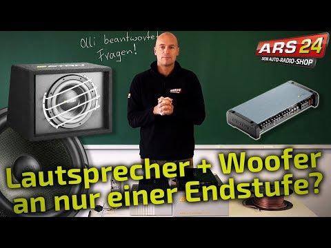 Lautsprecher und Subwoofer an 1 Endstufe? Geht das? || TUTORIAL || ARS24.com
