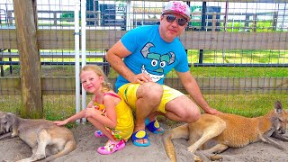 Nastya và cha loạt niềm vui mới của đồ chơi nhà nông cho trẻ em