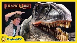 Giant Dinosaurs at Jurassic Quest! Life Size Dinosaur Family Fun Event with Activities for Kids