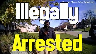 OFFICERS ILLEGALLY ARREST MASTERS STUDENT
