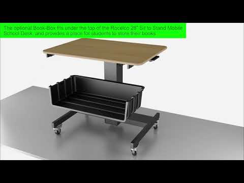 Rocelco MSD-28-BB Mobile Standing Desk