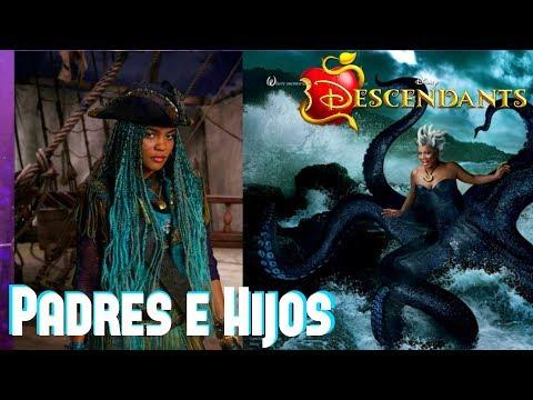 Descendientes 1 y 2 Padres e Hijos de Villanos y Princesas Disney