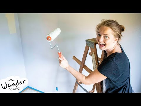 PAINTING THE NEW HOUSE! DIY Bedroom Remodel Part 2 | The Wander Family