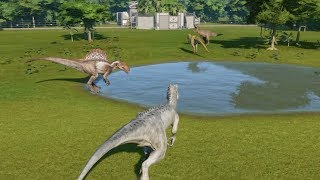 The Big 4 I-Rex VS T-Rex VS Spinosaurus VS Giganotosaurus Update 1.4 - Jurassic World Evolution