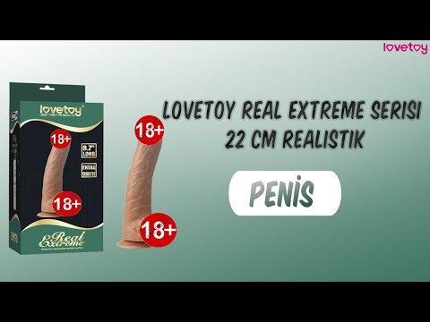 Lovetoy Real Extreme Serisi 22 cm Belden Bağlamalı Realistik Penis