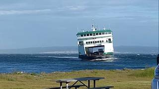 Wsf Salish Ferry in storm from Port Townsend to Coupeville. May 23 2017.