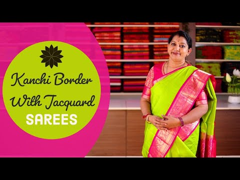 """<p style=""""color: red"""">Video : </p>New kanchi Border With Jacquard Sarees Collections    Gayathri Reddy 2020-11-29"""
