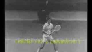 Pancho Gonzales Vs Lew Hoad, Olmedo Vs McKay In The Early 60s