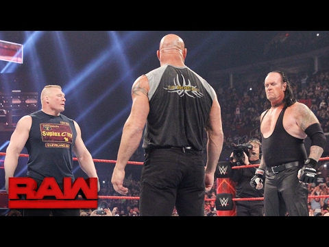 Download Brock Lesnar Goes Face-to-face With Goldberg And The Undertaker: Raw, Jan. 23, 2017 HD Mp4 3GP Video and MP3