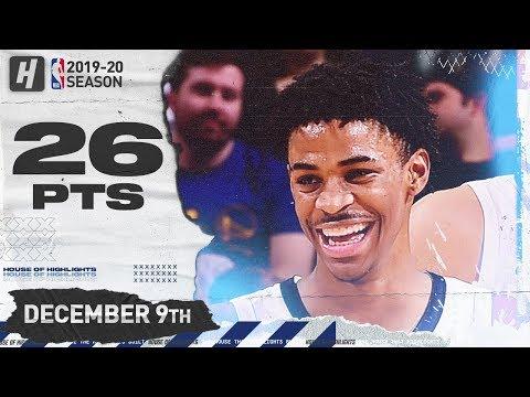 Ja Morant 26 Pts Full Highlights    Grizzlies vs Warriors   December 9, 2019