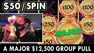 A MAJOR $12,500 Group Slot Pull at Seven Feathers Casino #ad