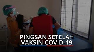 Nurmeli Pingsan Usai Disuntik Vaksin Covid-19 di Puskesmas Lubukpakam