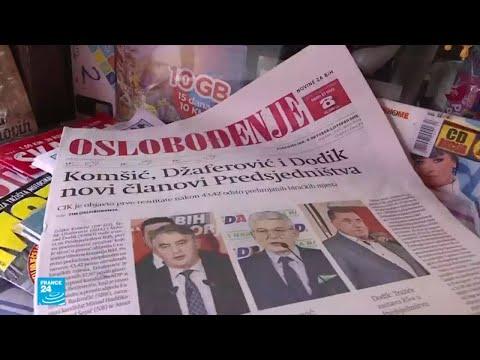 العرب اليوم - شاهد: مظاهر الاحتفالات بانضمام صربي قومي وبوسني مسلم إلى مجلس رئاسة البوسنة