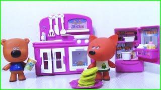 Новая КУХНЯ мечты Лисички - Подарки от Кеши и Тучки Мультик с игрушками Ми-ми-мишки