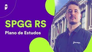 Concurso SPGG RS: Plano de Estudos