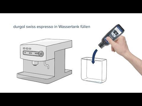 Anleitung: durgol swiss espresso - Kaffeemaschinen professionell entkalken