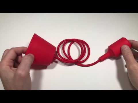Lámpara colgante de colores silicona