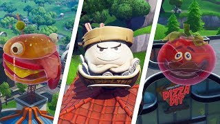 Holographic Tomato Head, Durrr Burger Head & Giant Dumpling Locations Guide - Fortnite (Season 9)
