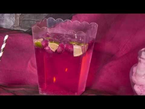 Halloween cocktail frambozen mojito