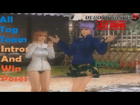 Dead Or Alive 5 Last Round: All Tag Team Intros & Win Poses - All Characters (JAP & ENG)