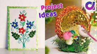5 Best out of waste diy crafts ideas | Project ideas | Artkala