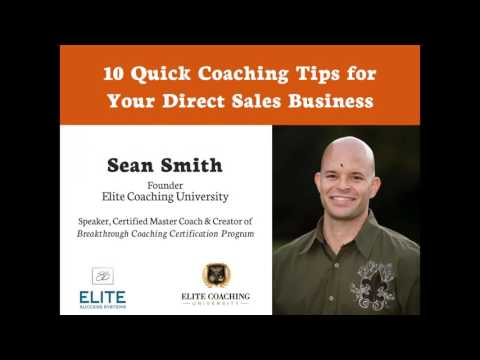Direct Sales Training - 10 Quick Coaching Tips   Coach Sean Smith ...