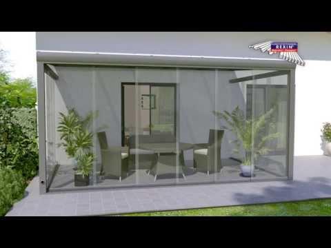 Glasschiebewand auf Terrasse als Windschutz (Montageanleitung)