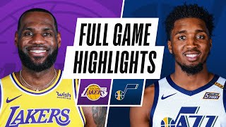 LAKERS chez JAZZ | POINTS SAILLANTS DU JEU COMPLET | 24 février 2021