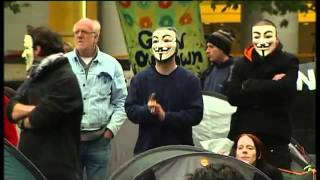 2012-01-12 - 3NEWS - V FOR VENDETTA AUTHOR ALAN MOORE APPLAUDS OCCUPY PROTESTS