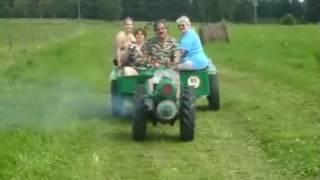 Veteran small tractor Slavia - Motorobot 1D80
