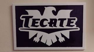 Tecate Carved Wood Sign, Beer Signs, Awesome Man Cave Sign, Cnc Shark, Machining Wood