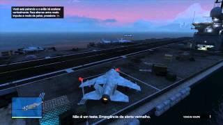 GTA V #2 - Missão Online - Heists - Roubar Jato Hidra do Porta Aviões