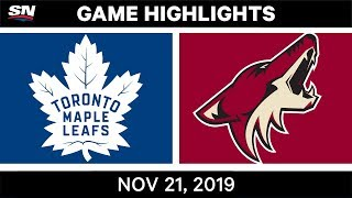NHL Highlights | Maple Leafs vs Coyotes – Nov. 21, 2019
