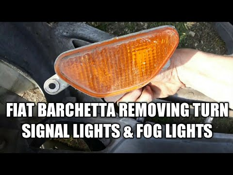 Removing the Turn Signal and fog lights Fiat Barchetta 1.8i