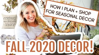 FALL DECORATING IDEAS 2020 🎃 | HUGE FALL DECOR HAUL! + HOW I PLAN FOR SEASONAL DECOR EARLY!