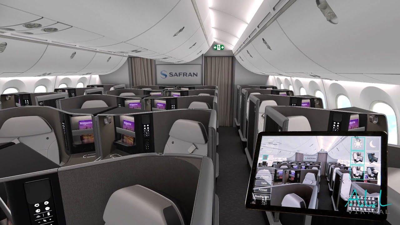 Présentation cabine d'avion Boeing 787