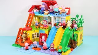 Peppa Pig Blocks Mega House Toys For Kids - Lego Duplo House Construction Sets #4